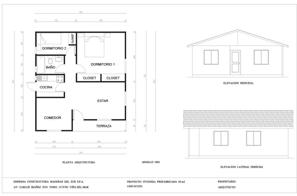 Planos casas solidas casas prefabricadas casas for Planos de casas prefabricadas