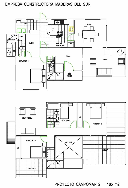 Casas americanas planos dise os arquitect nicos for Modelo de casa segundo piso